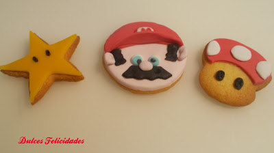 Galletas Mario Bros fondant