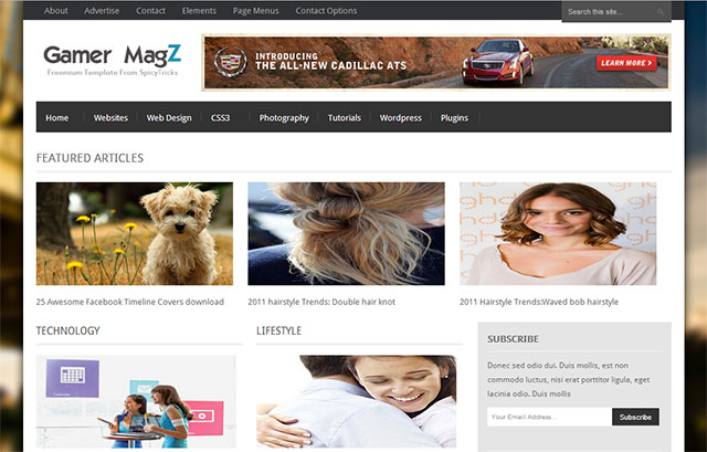 Gamer Magz Blogger Template free 25+ Best Free Magazine Blogger Templates for 2013 Download
