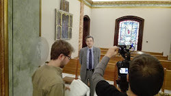 """Realització del reportatge per a """"Signes dels Temps"""" TV3 (16-5-2016) al Santuari de Misericòrdia."""