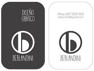 Tarjeta de visita Berlandini blanco y negro