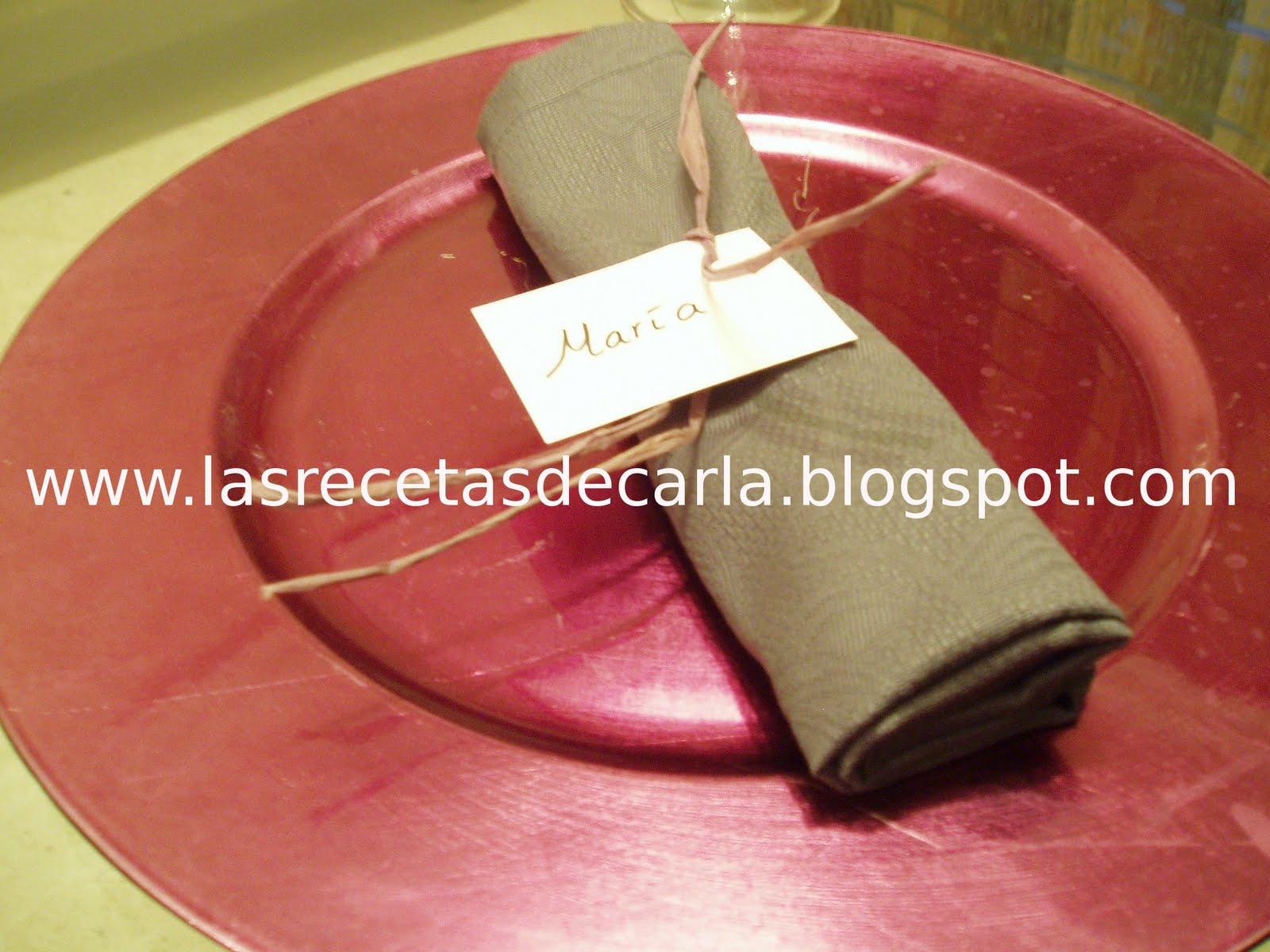 Las recetas de carla servilletas personalizadas - Servilletas personalizadas ...