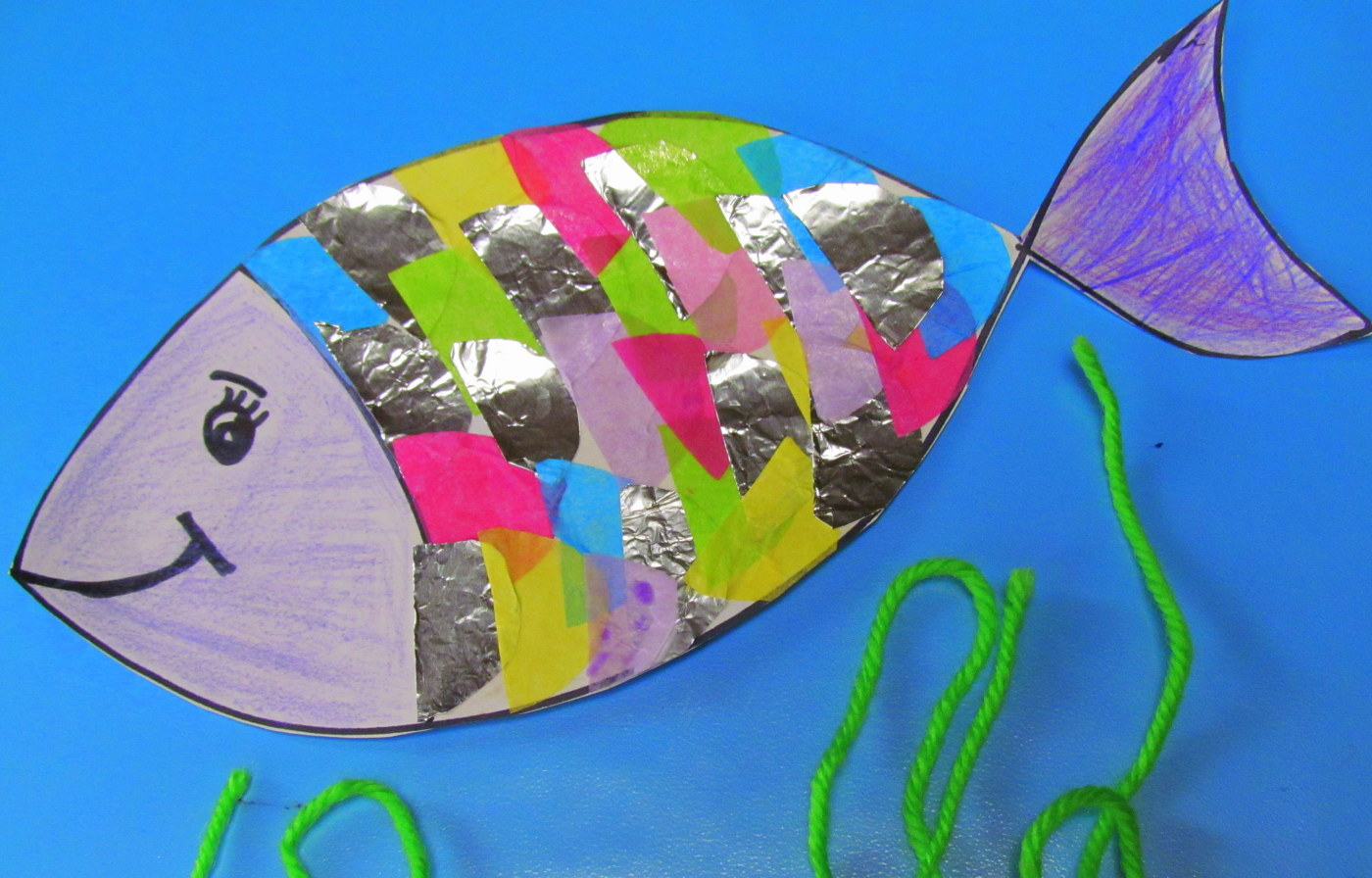learn to grow rainbow fish craft