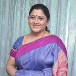 Kushboo in Silk Saree @ a Press Meet Photo Gallery