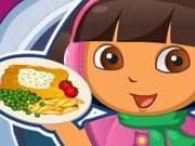 pescado con patatas fritas Dora