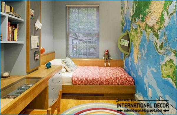 Teen Boys Room Decor Cool Boys Room Map Wallpaper