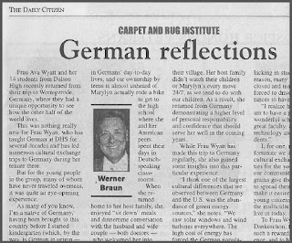 Dalton Student Reflects on Visit to Germany by Werner Braun