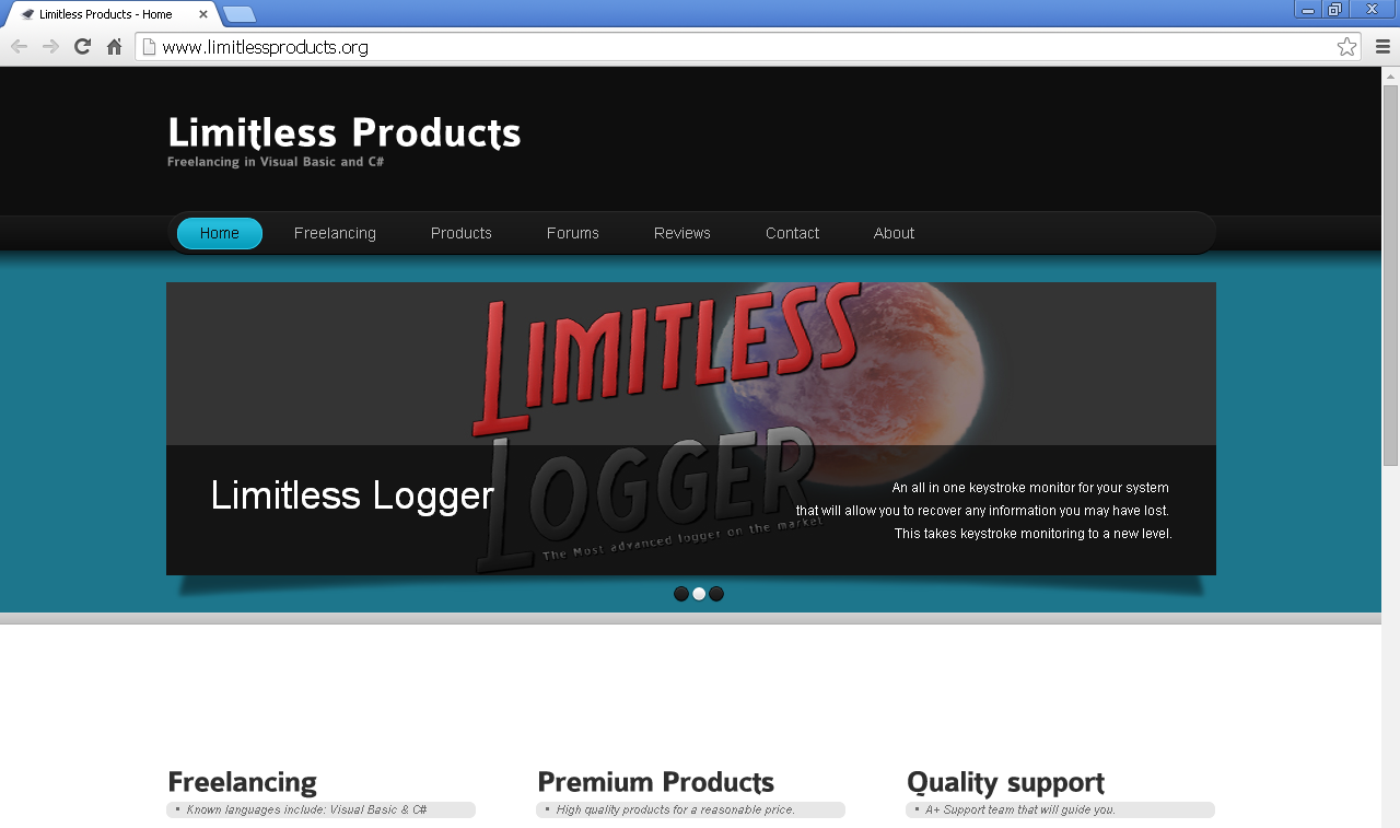 Limitlessproducts.org pop-ups
