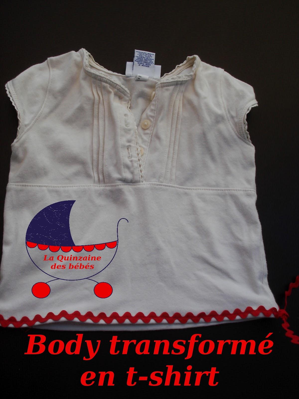 Le sewing pot quinzaine des b b s tuto d 39 un body un t - Plier un t shirt ...
