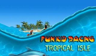 Screenshots of the Fun kid racing: Tropical isle for Android tablet, phone.