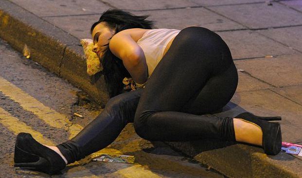 Drunk Girl Sleeping Big Ass.