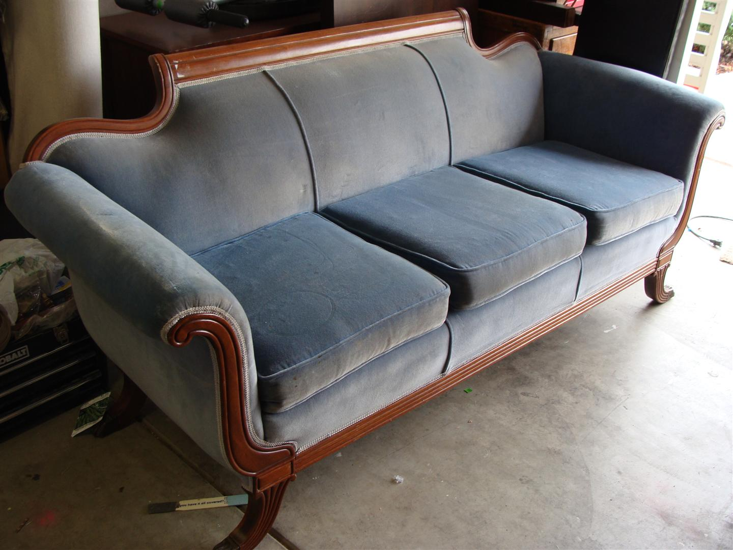 Before And After Antique Sofa