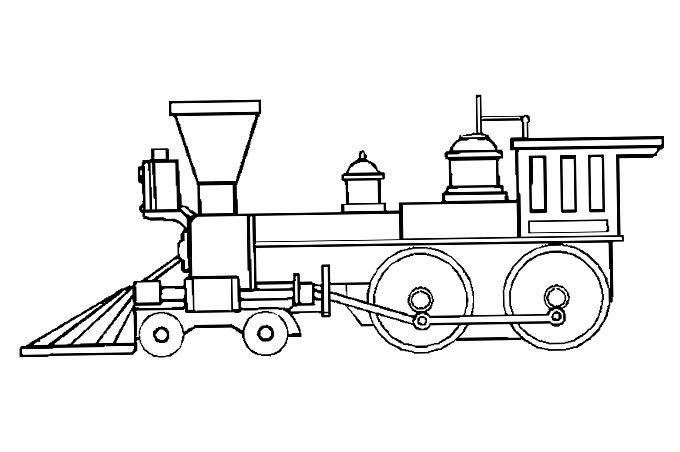 رأس قطار بخاري قديم بصورة تلوين الاطفال