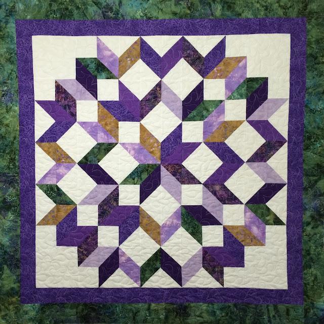 Pat Donovan's Rippling Star quilt
