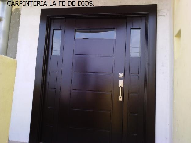 Carpinter a la fe de dios puertas principales y de for Modelos de puertas principales para casas