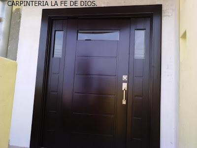 Carpinter a la fe de dios puertas principales y de for Diseno de puertas principales de casas