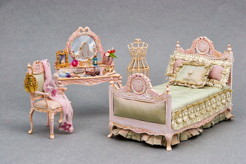One Of A Kind Hand Painted Pink Bedroom Set.