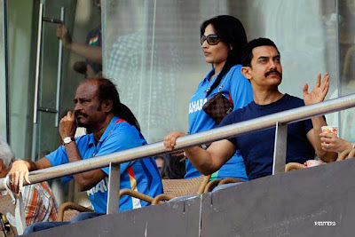World Cup 2011, Cricket, India, Sri Lanka, Wankhede stadium, Bollywood, Rajinikanth, Saif Ali Khan, Ranbir Kapoor, Suniel Shetty, Aftab Shivdasani, India