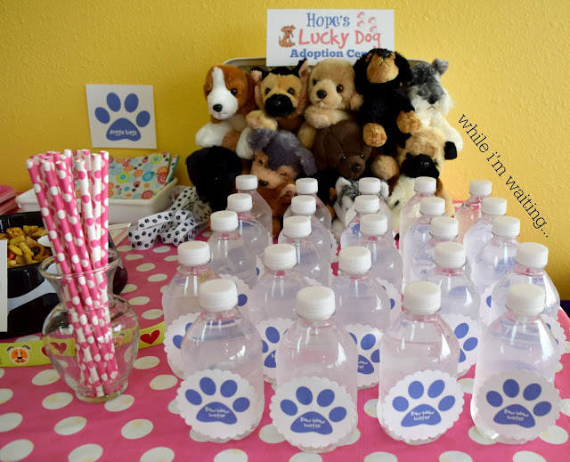 Hope's 5th Birthday PAW-ty - puppy themed birthday party on While I'm Waiting...blog