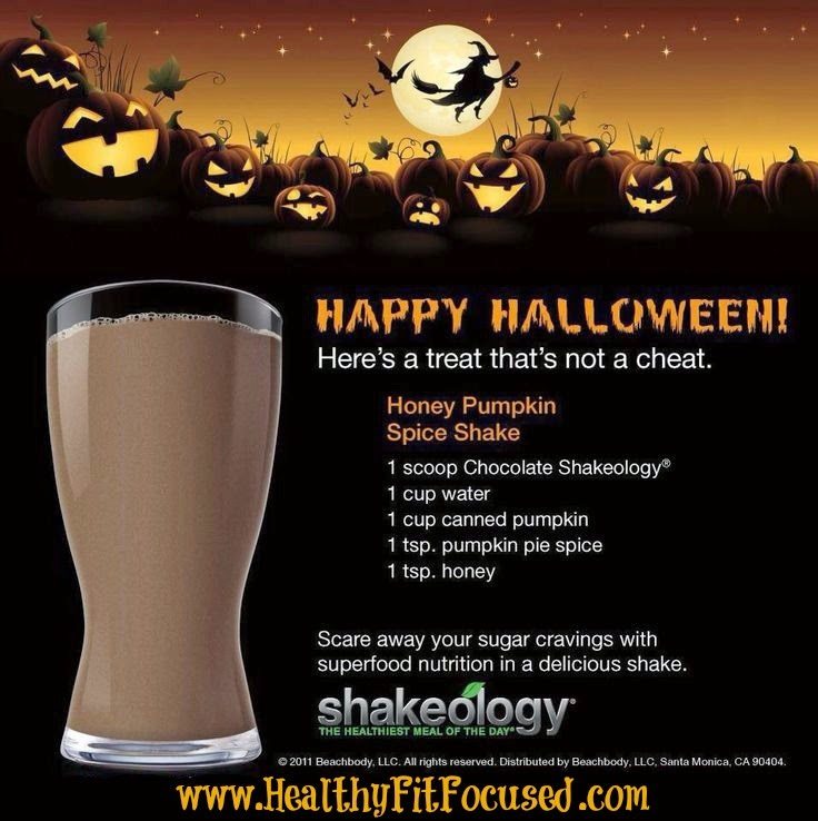 Healthy Halloween Candy Bar Shakeology Recipes: Honey Pumpkin Spice Shakeology