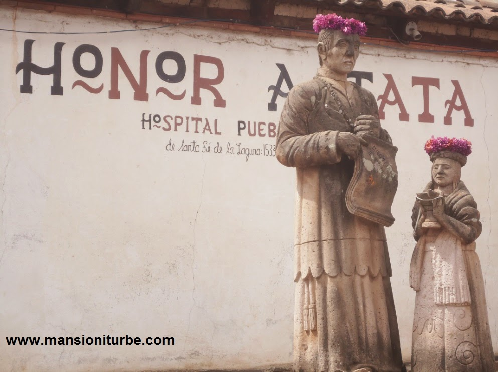 Estaura en Honor a Vasco de Quiroga en Santa Fe de la Laguna