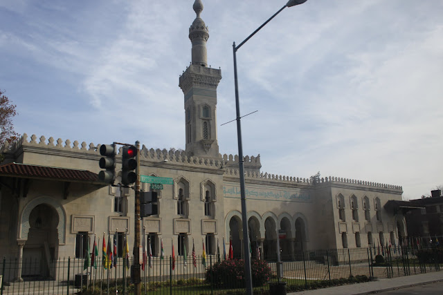 A big mosque is spotted in Dupont Circle neighbourhood which is situated within the perimeter of Embassy buildings in Washington DC, USA
