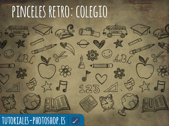 pinceles retro photoshop colegio