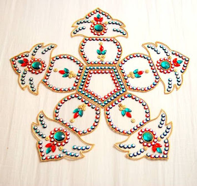 Kalash Shaped Rangoli