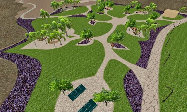 dise o 3d de un parque conceptual ecol gico parque para