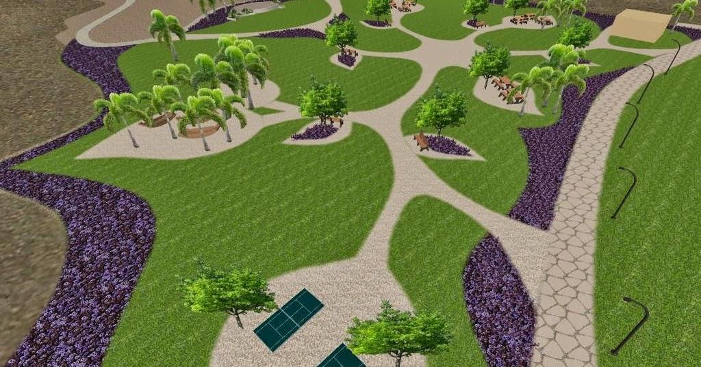 Dise o 3d de un parque conceptual ecol gico parque para for Diseno de jardines online gratis