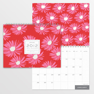 2012 wall calendar, flowers, nice large grid boxes