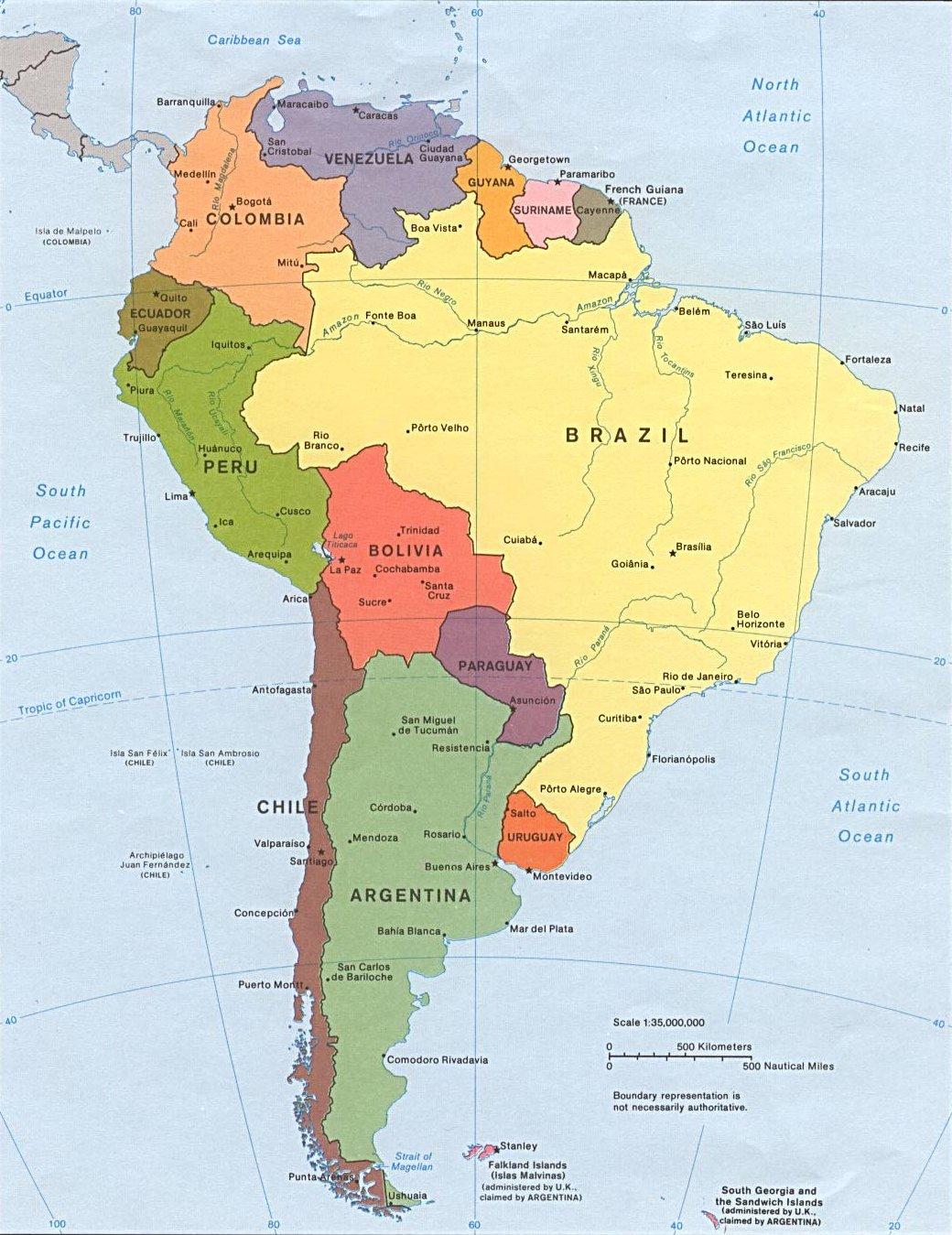 Mapa De America Del Norte Con Sus Capitales