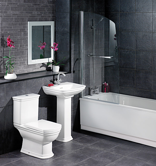 Bathroom Design White And Black : White and black bathroom decorating ideas