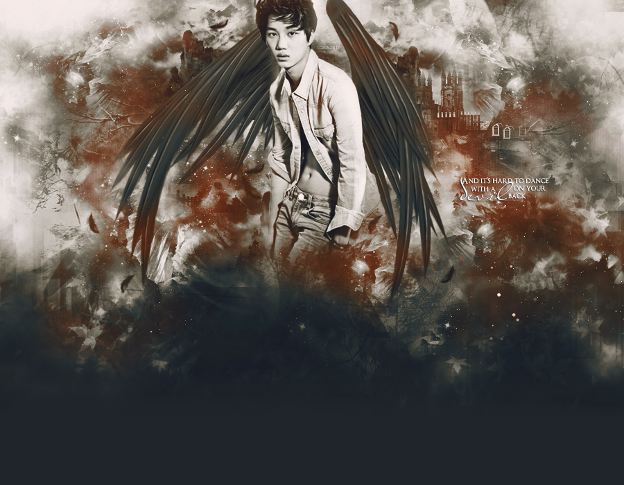 """""""If I'm an angel, paint me with black wings."""""""