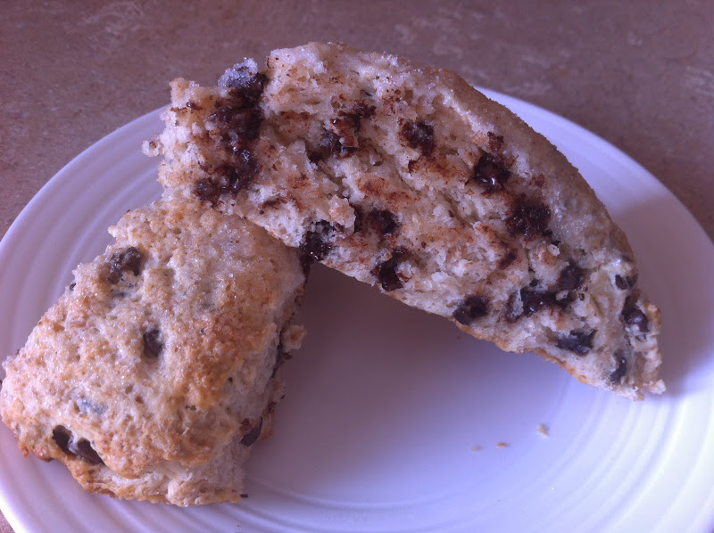 Naked Cupcakes: {Skinny} Chocolate Chip Buttermilk Scones