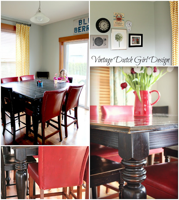 Red and Yellow Dining Room