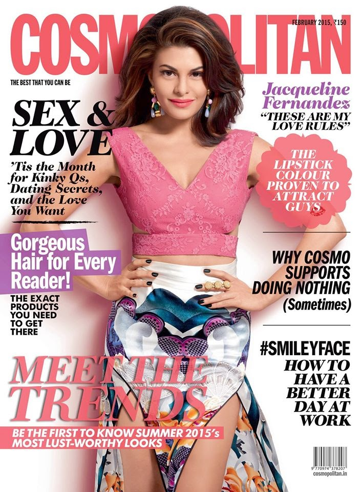 Actress, Model: Jacqueline Fernandez for Cosmopolitan India