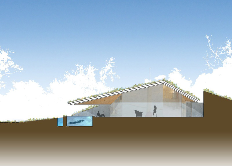 While The Essence Of The Project Is Conversant With A Native American Pit  House, The Roof Form Has Been Largely Influenced By The Ancient Art Of  Origami.