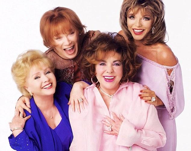 Debbie Reynolds, Shirley MacLaine, Elizabeth Taylor and Joan Collins