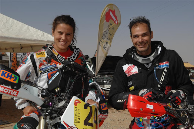 With Laia Sainz on the Merzouga Rally