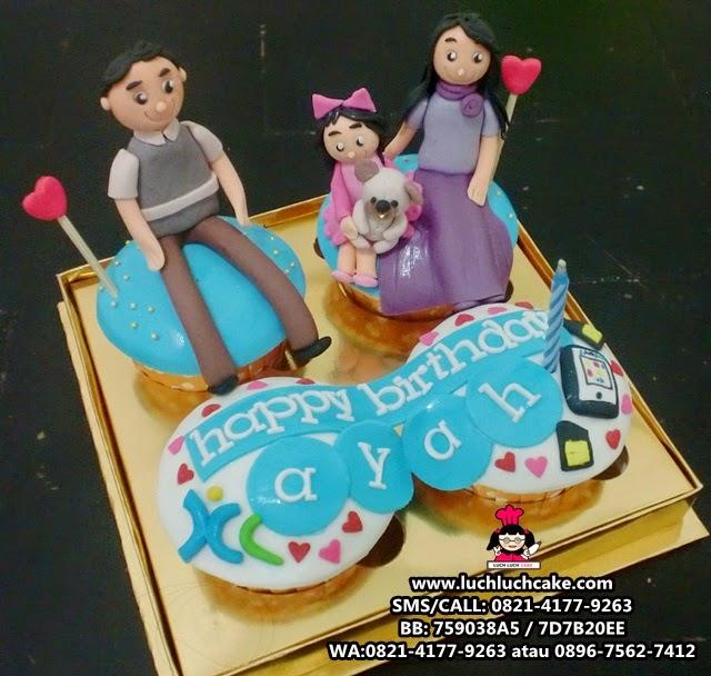 Cupcake Ulang Tahun Keluarga Tema XL Daerah Surabaya - Sidoarjo