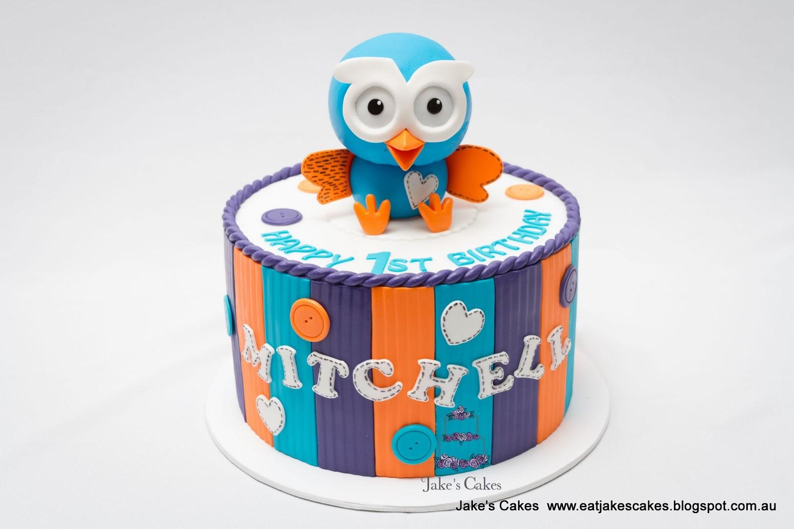 Jakes Cakes Hoot 1st Birthday Cake