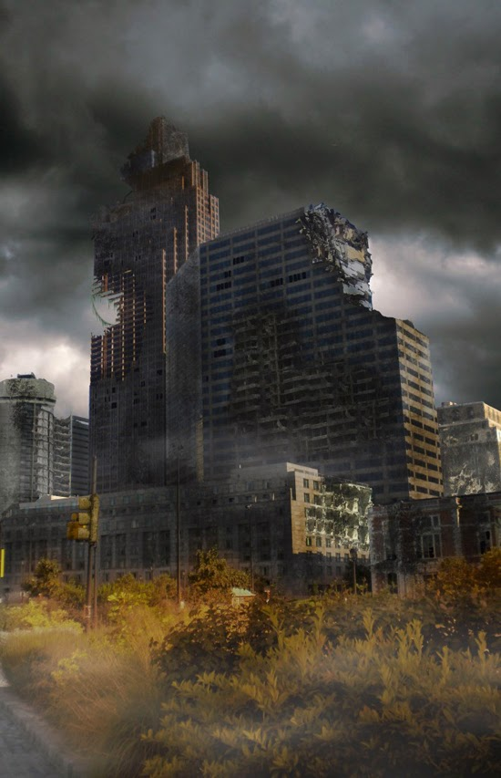 A Distressed Surreal CityScape in Photoshop