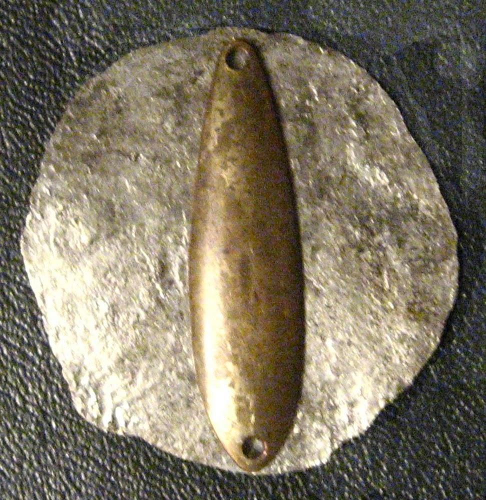 расплющенная монета для изготовления блесны