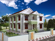 Evens Construction Pvt 3d Elevation Of House In Kerala