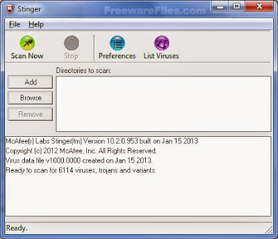 McAfee AVERT Stinger 12.0.0.624 Free Download