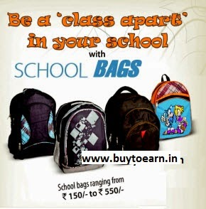 Get flat 50% off or more on School Bags From Amazon india