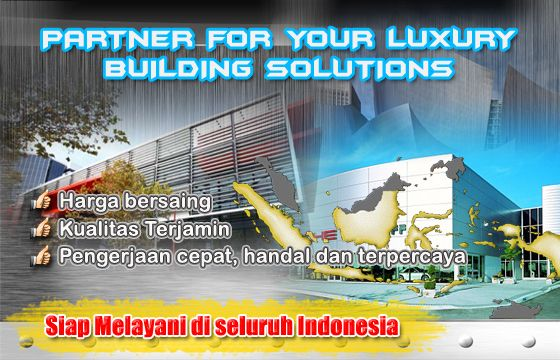 jasa arsitek, aluminium composite panel, curtain wall, canopy, pintu, jendela, neon box, partisi, shower