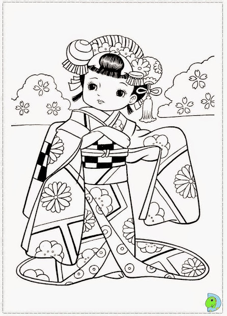 20 Lady Coloring Pages Japan Ideas And Designs