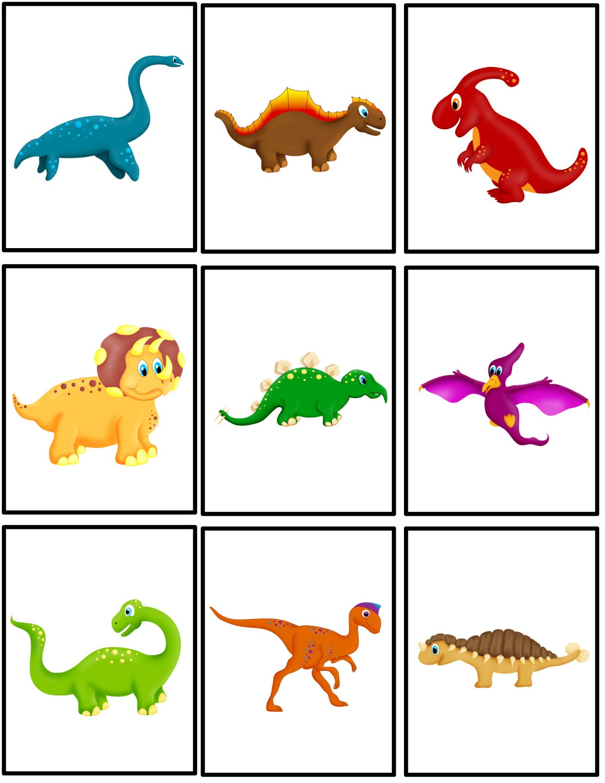 Printable color matching games for preschoolers -  Free Dinosaur Matching Packet