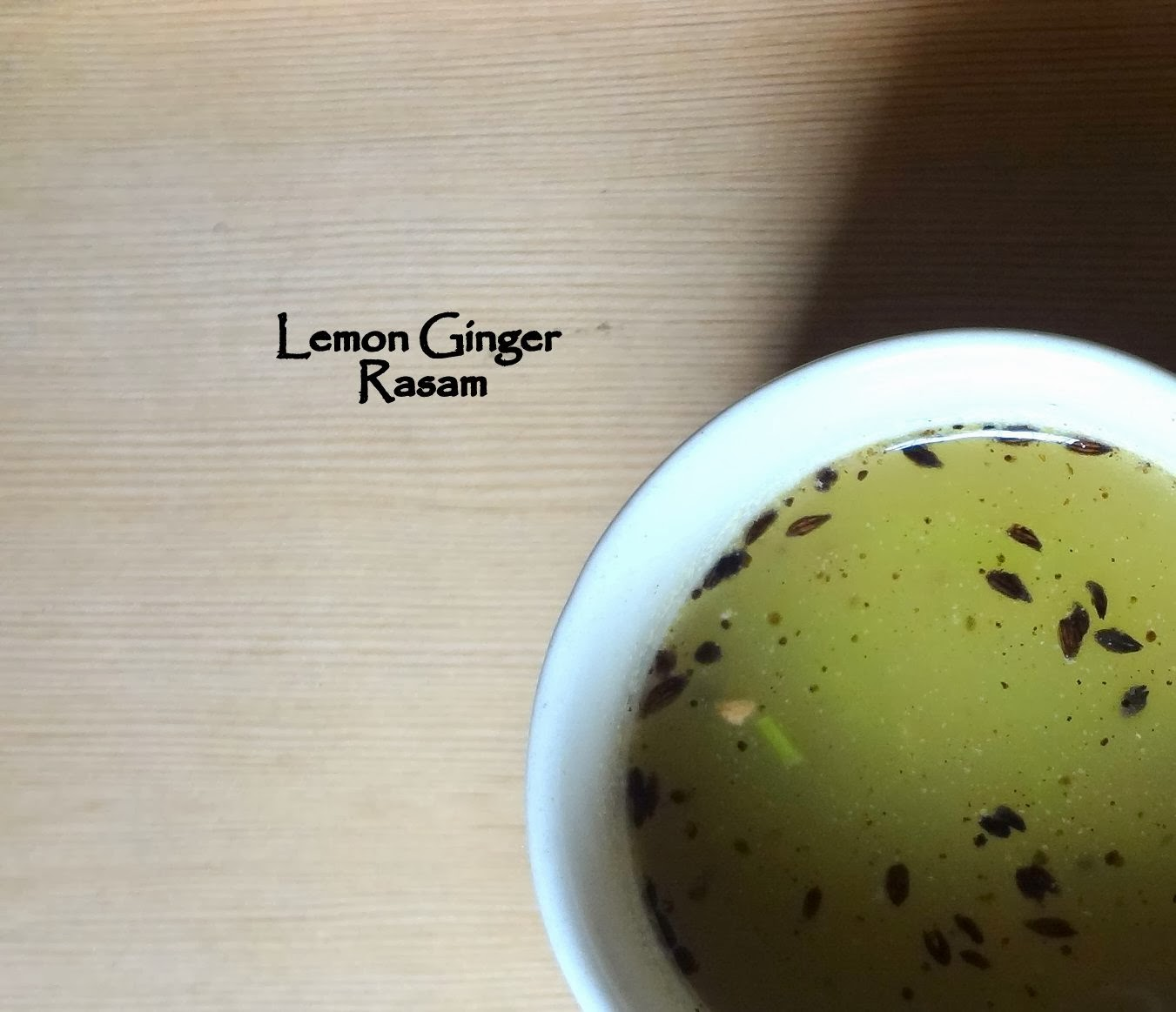lemon ginger rasam